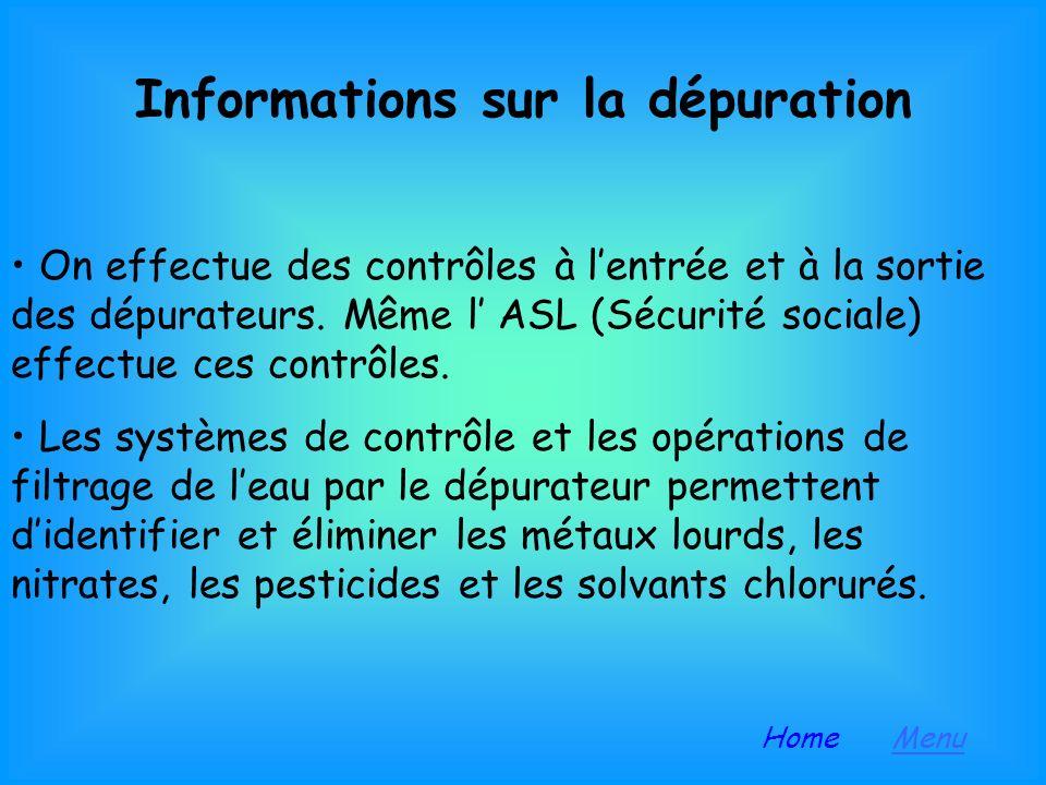 Informations sur la dépuration