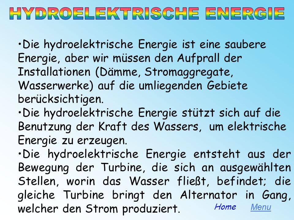HYDROELEKTRISCHE ENERGIE
