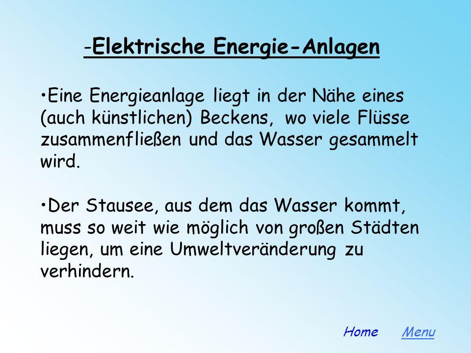 -Elektrische Energie-Anlagen