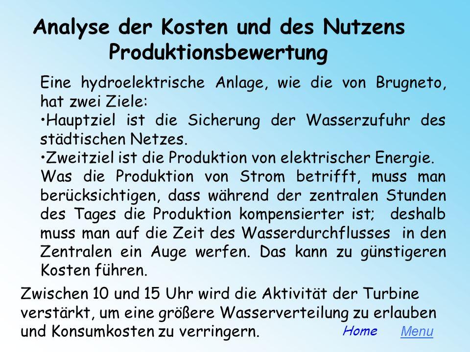 Analyse der Kosten und des Nutzens Produktionsbewertung