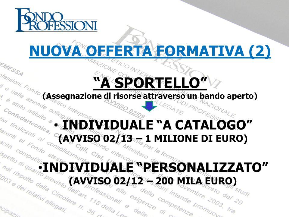 NUOVA OFFERTA FORMATIVA (2) A SPORTELLO