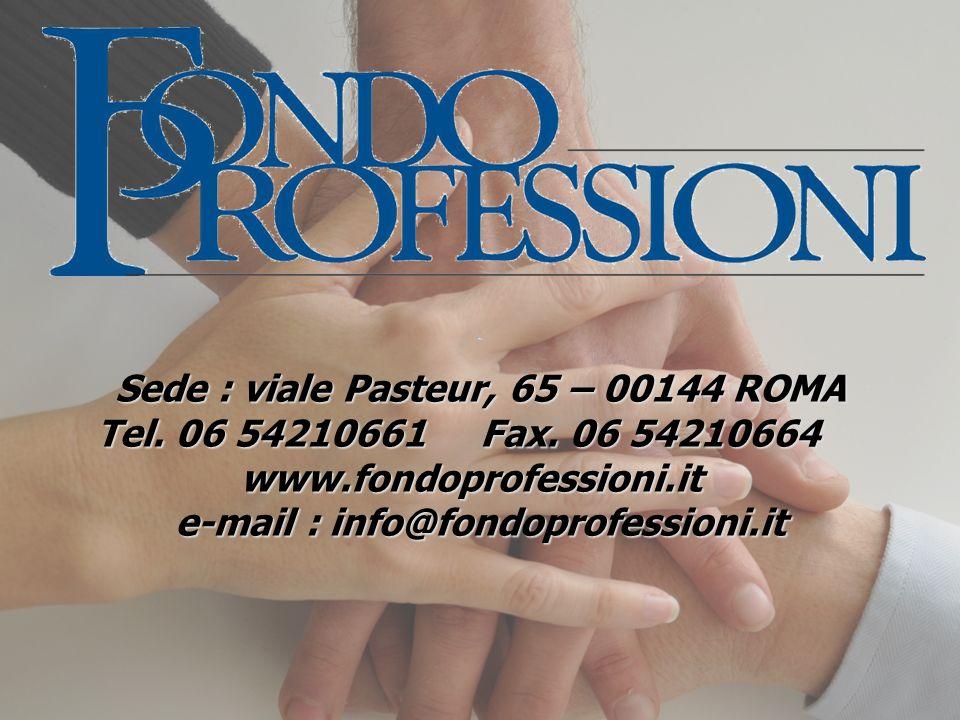 Sede : viale Pasteur, 65 – 00144 ROMA