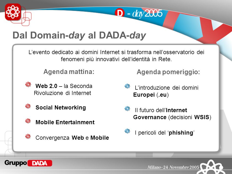 Dal Domain-day al DADA-day