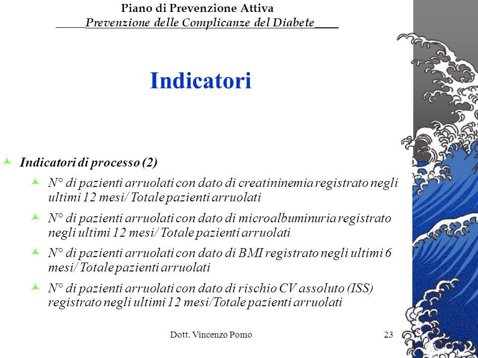 Indicatori Indicatori di processo (2)