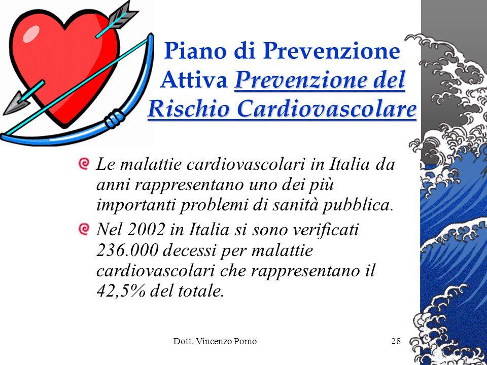 Piano di Prevenzione Attiva Prevenzione del Rischio Cardiovascolare