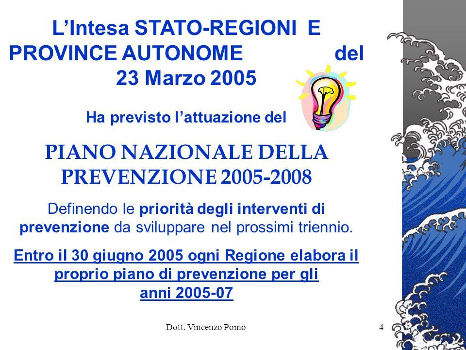 L'Intesa STATO-REGIONI E PROVINCE AUTONOME del 23 Marzo 2005
