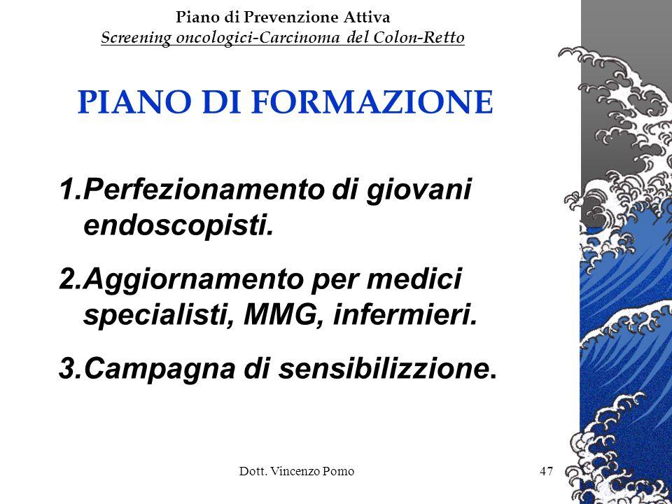 PIANO DI FORMAZIONE Perfezionamento di giovani endoscopisti.