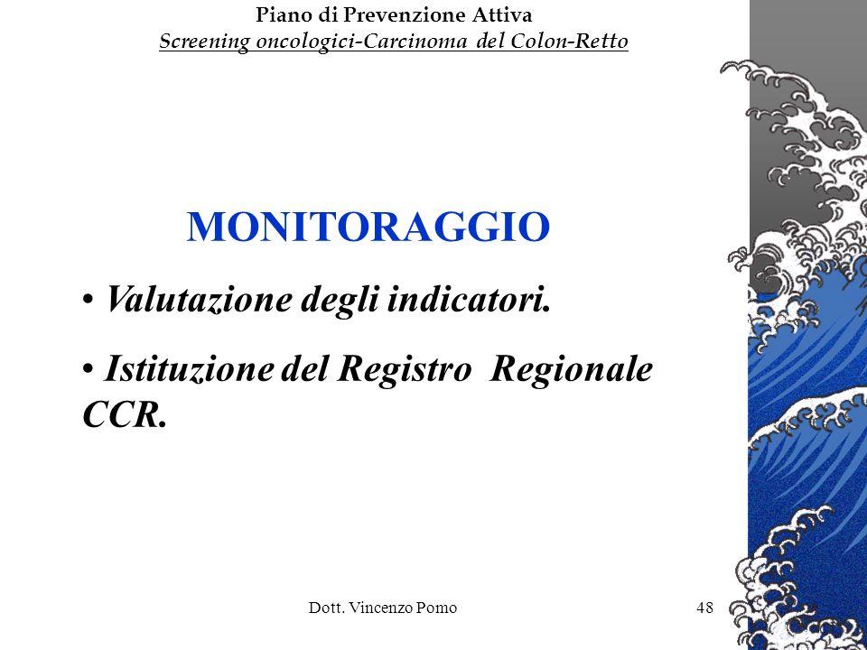 MONITORAGGIO Valutazione degli indicatori.