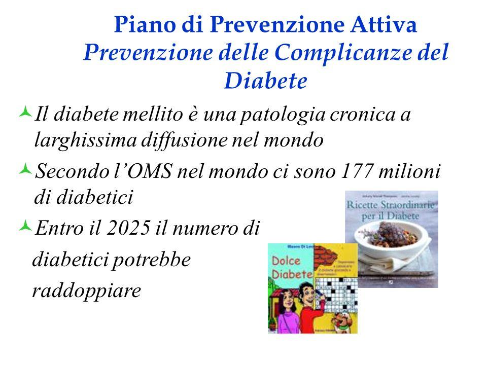 Piano di Prevenzione Attiva Prevenzione delle Complicanze del Diabete