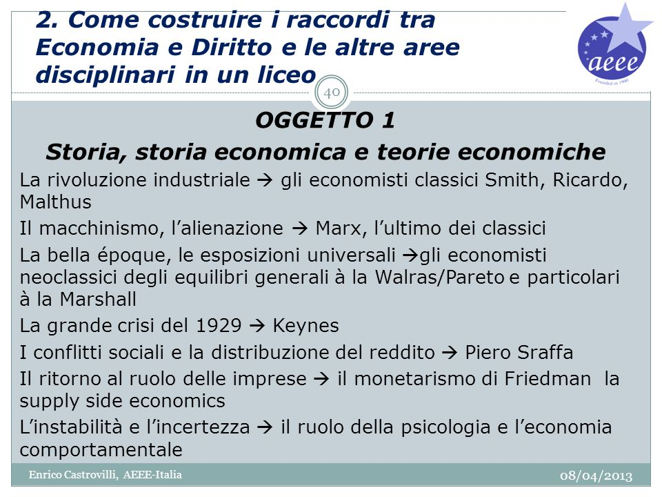 Storia, storia economica e teorie economiche