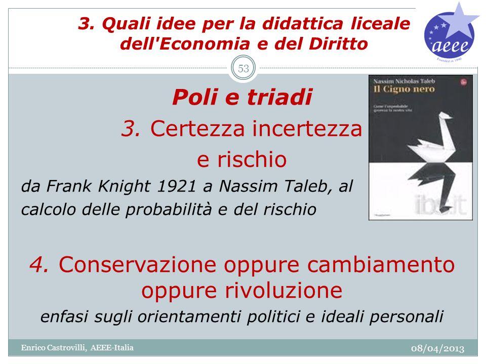 3. Quali idee per la didattica liceale dell Economia e del Diritto