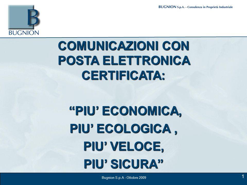 COMUNICAZIONI CON POSTA ELETTRONICA CERTIFICATA: