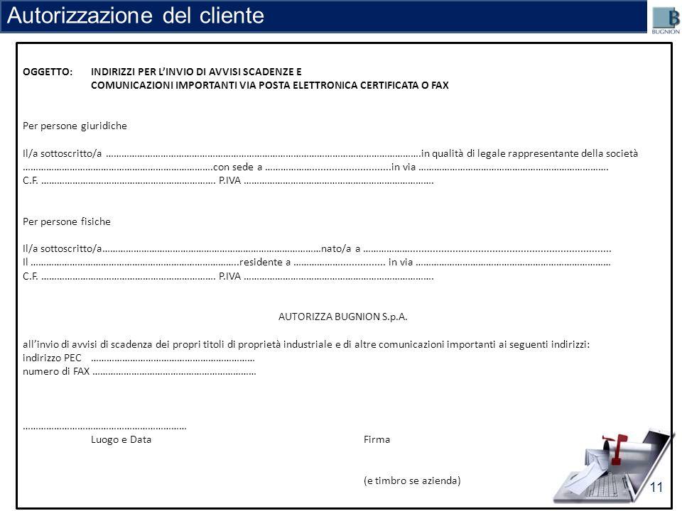 Autorizzazione del cliente