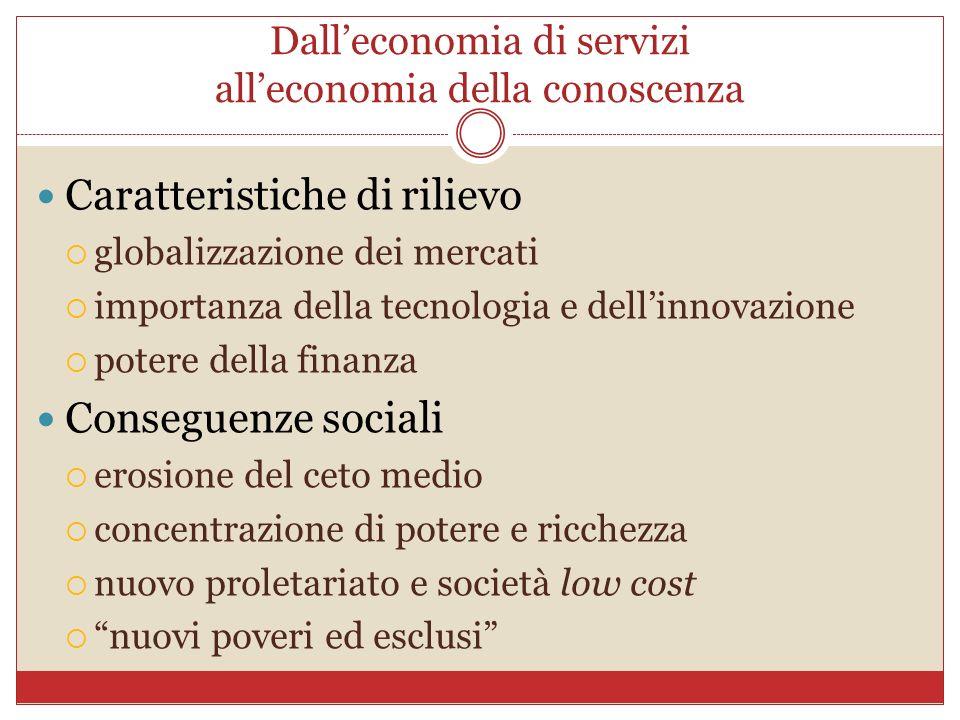 Dall'economia di servizi all'economia della conoscenza