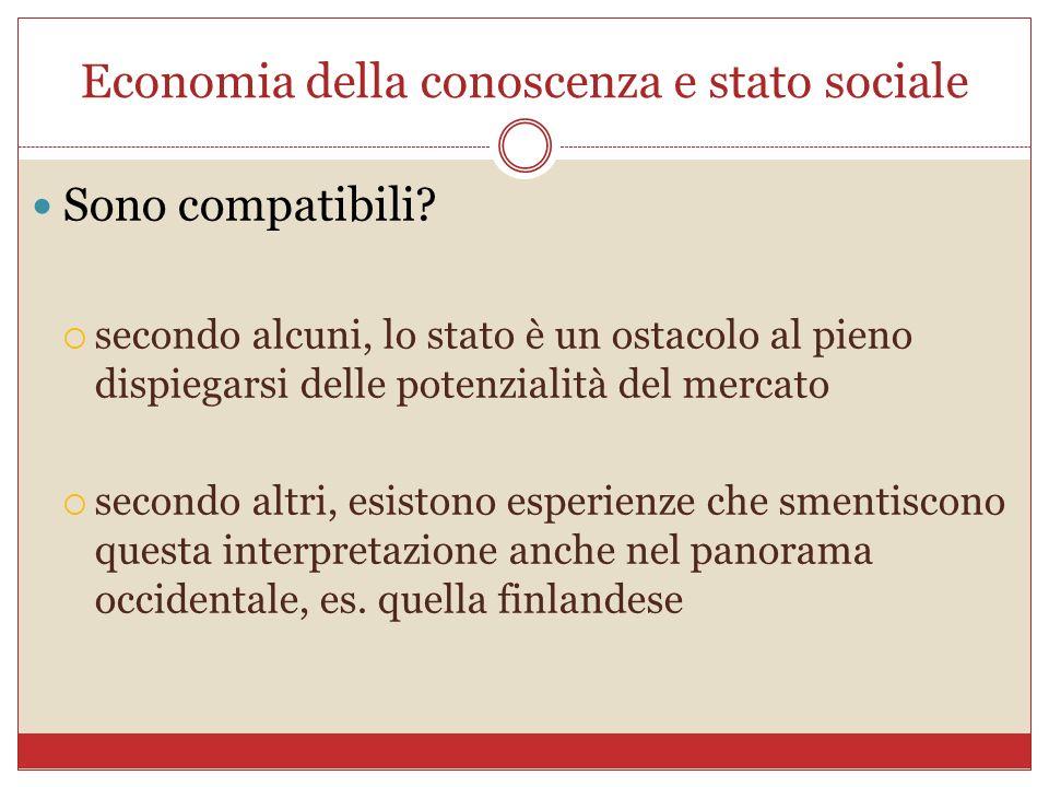 Economia della conoscenza e stato sociale