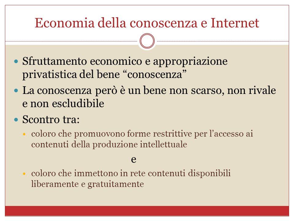 Economia della conoscenza e Internet