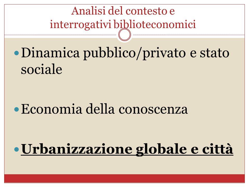 Analisi del contesto e interrogativi biblioteconomici