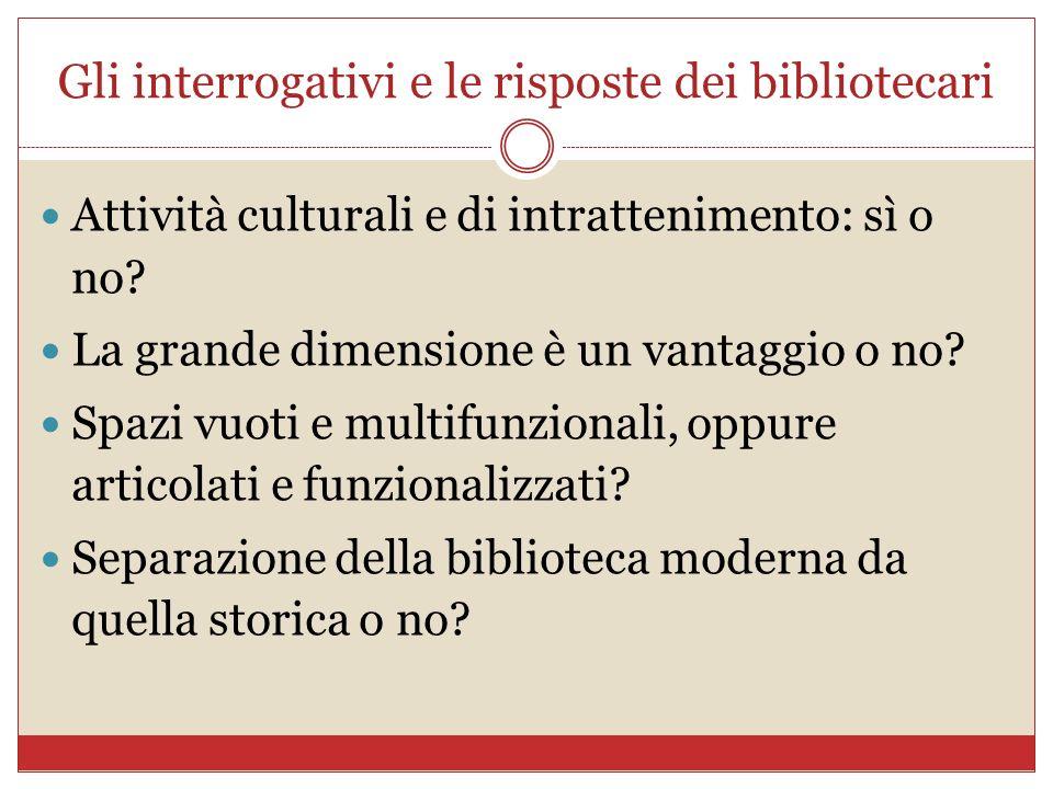 Gli interrogativi e le risposte dei bibliotecari