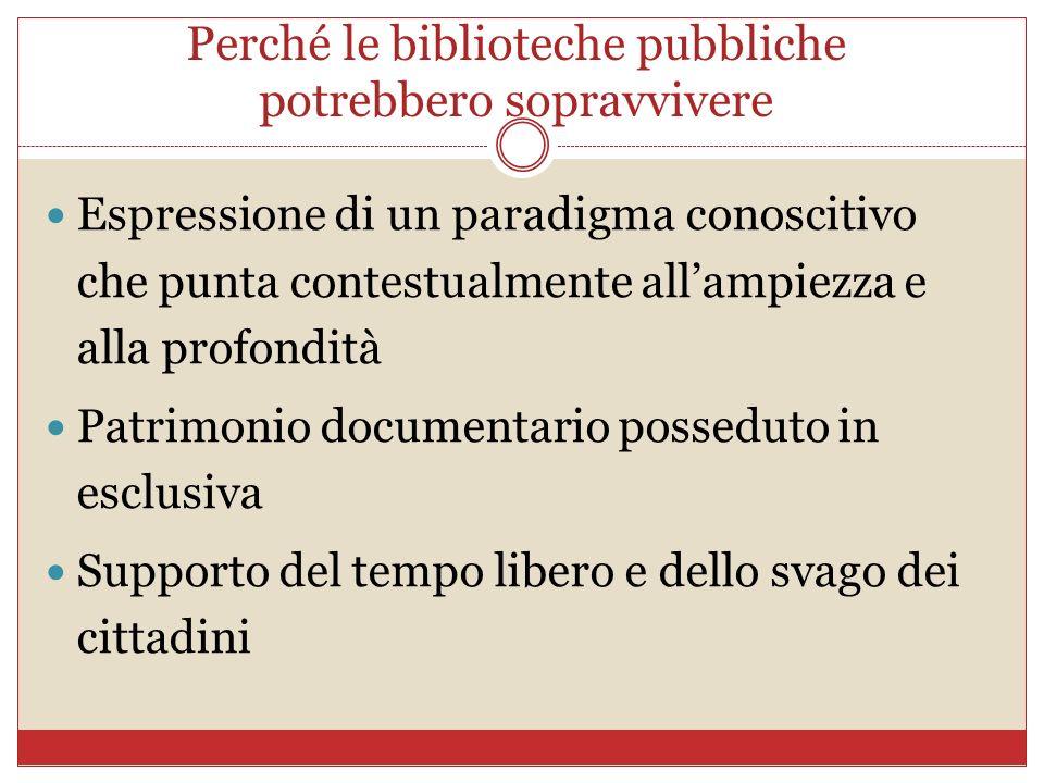 Perché le biblioteche pubbliche potrebbero sopravvivere