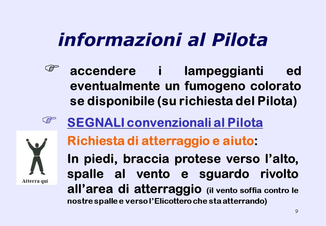 informazioni al Pilota