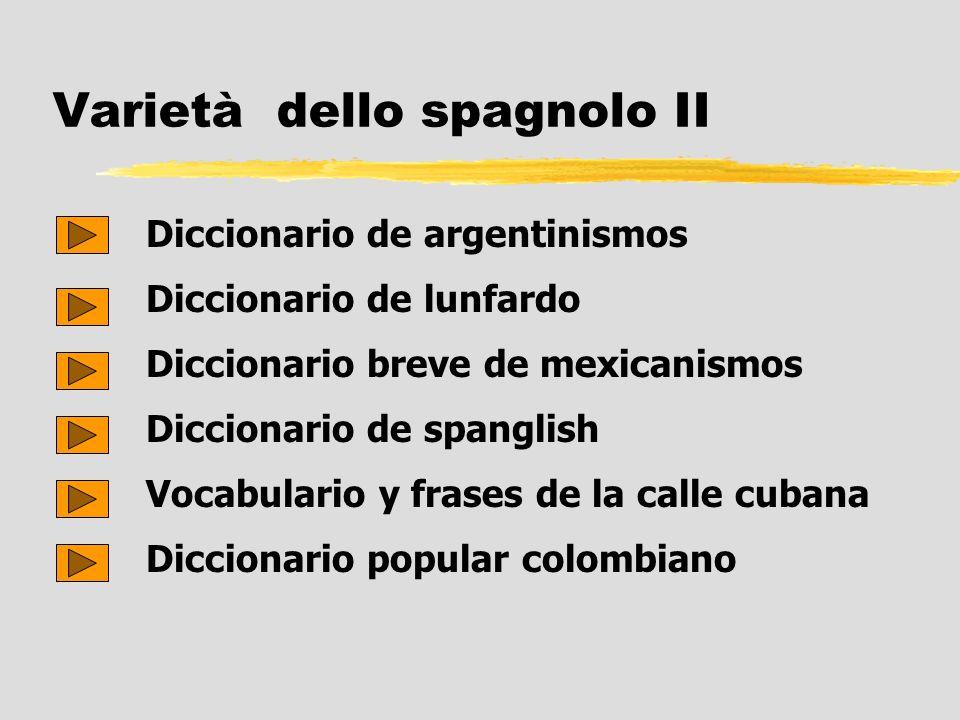 Varietà dello spagnolo II