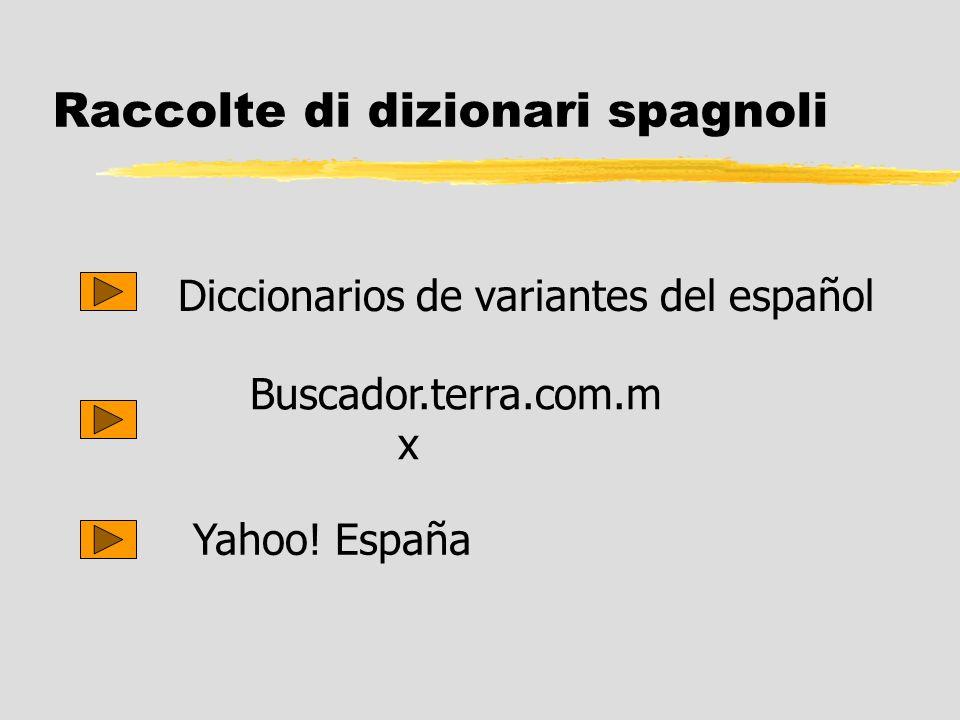Raccolte di dizionari spagnoli