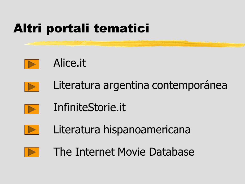 Altri portali tematici