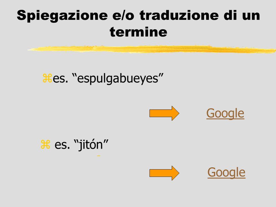 Spiegazione e/o traduzione di un termine