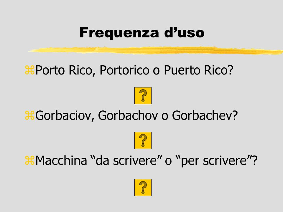 Frequenza d'uso Porto Rico, Portorico o Puerto Rico