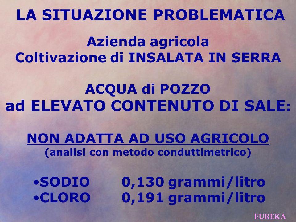 ad ELEVATO CONTENUTO DI SALE: