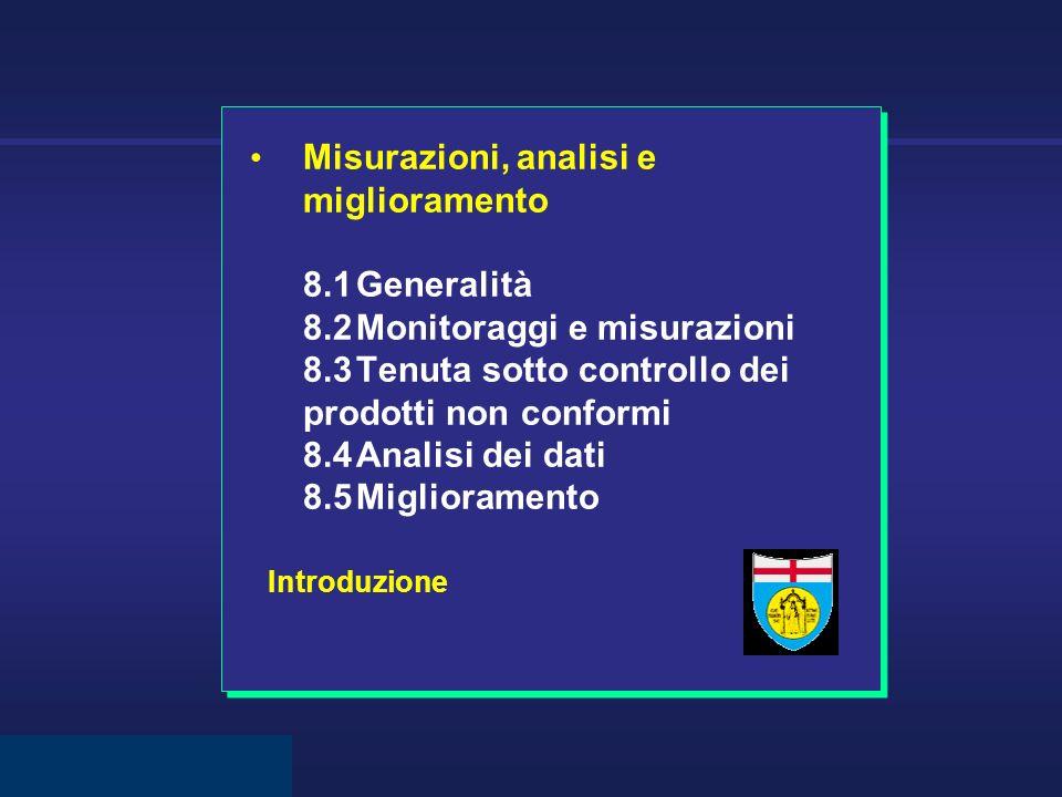 Misurazioni, analisi e miglioramento 8. 1. Generalità. 8. 2