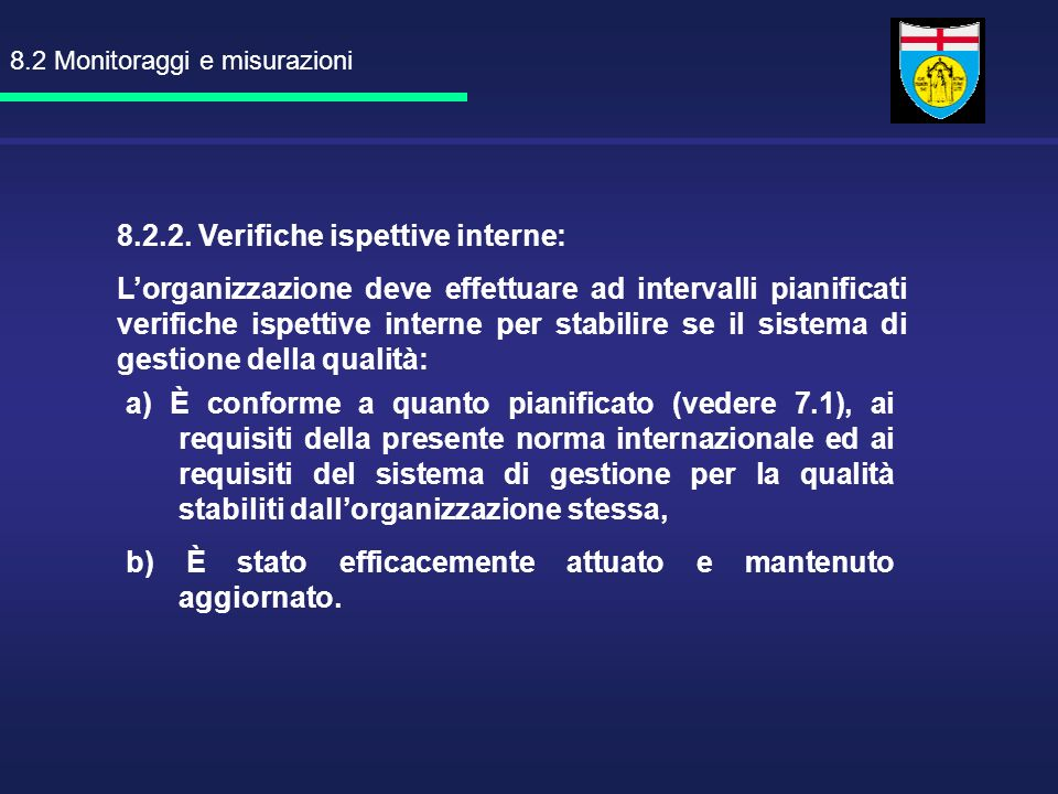 8.2 Monitoraggi e misurazioni