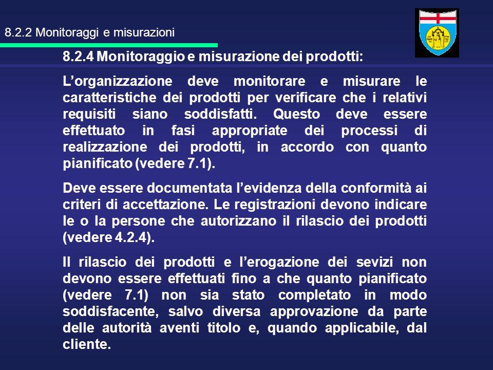 8.2.2 Monitoraggi e misurazioni