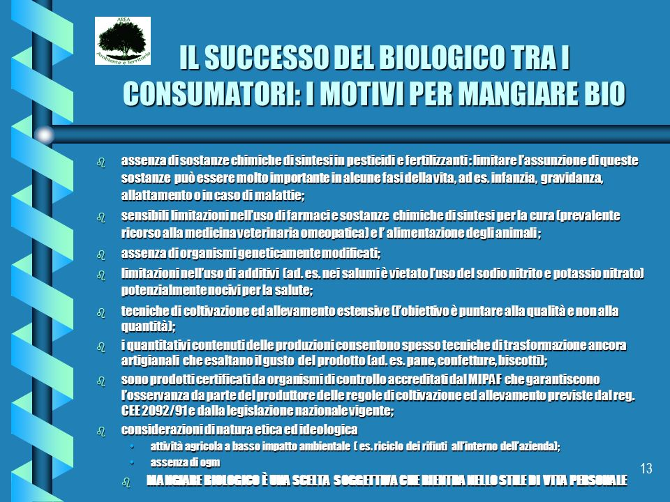 IL SUCCESSO DEL BIOLOGICO TRA I CONSUMATORI: I MOTIVI PER MANGIARE BIO