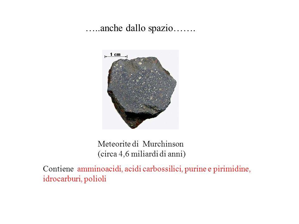 …..anche dallo spazio……. Meteorite di Murchinson (circa 4,6 miliardi di anni)