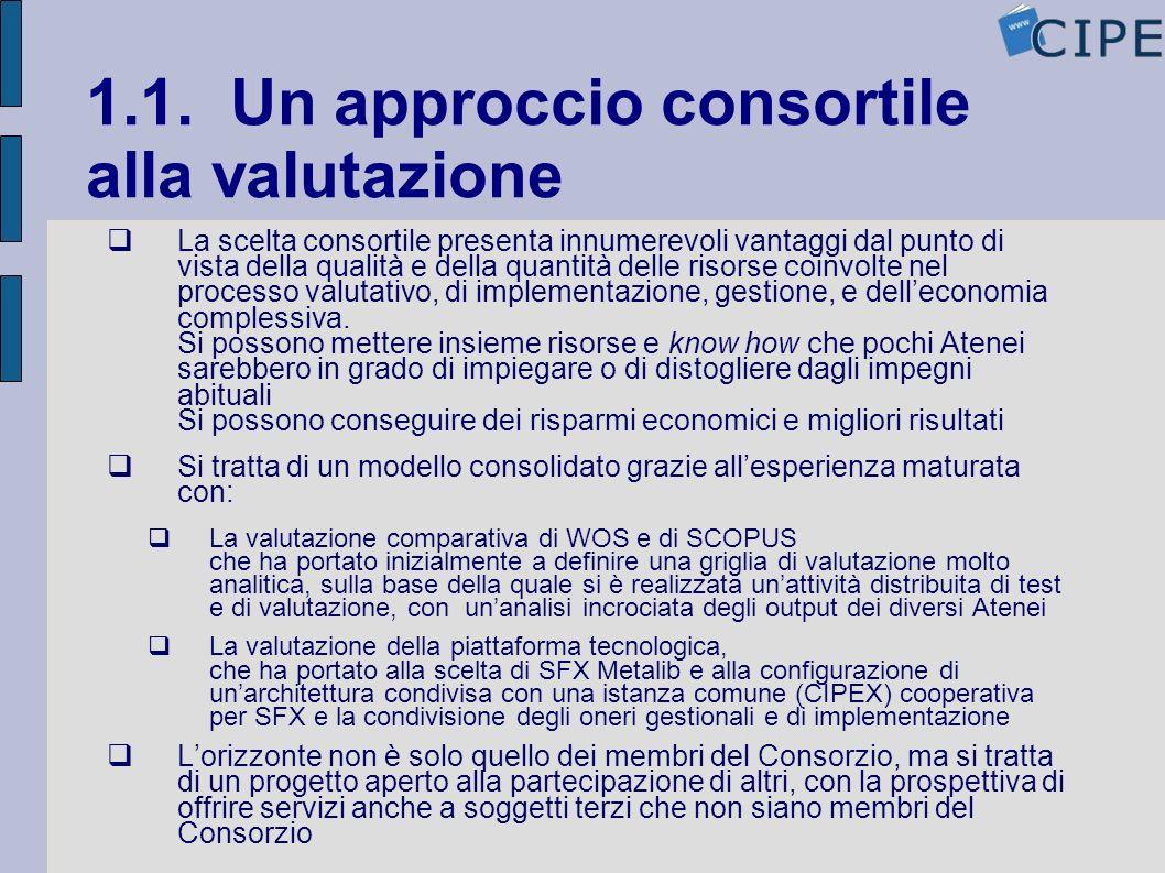 1.1. Un approccio consortile alla valutazione