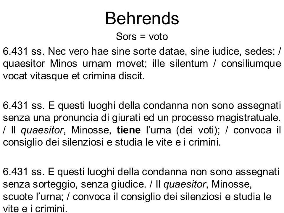 Behrends Sors = voto.