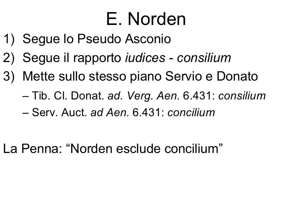 E. Norden Segue lo Pseudo Asconio