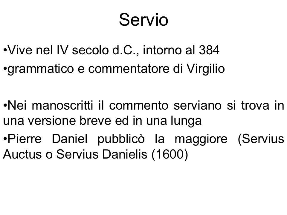 Servio Vive nel IV secolo d.C., intorno al 384