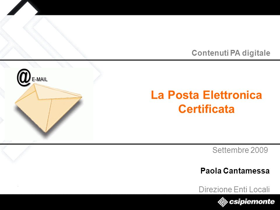 La Posta Elettronica Certificata