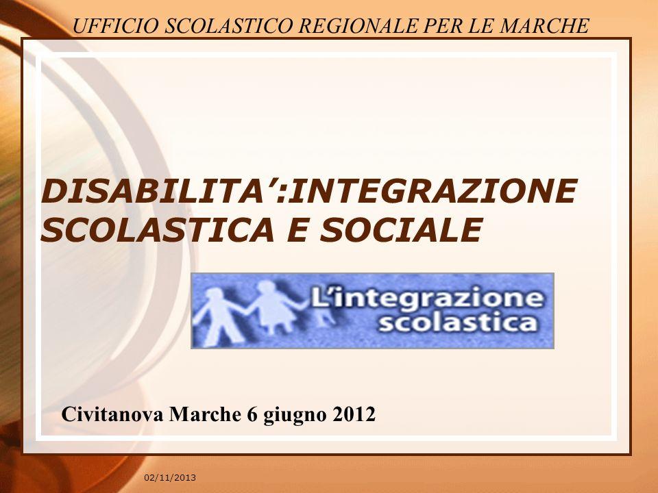 DISABILITA':INTEGRAZIONE SCOLASTICA E SOCIALE