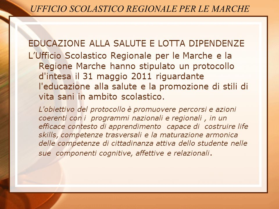 UFFICIO SCOLASTICO REGIONALE PER LE MARCHE