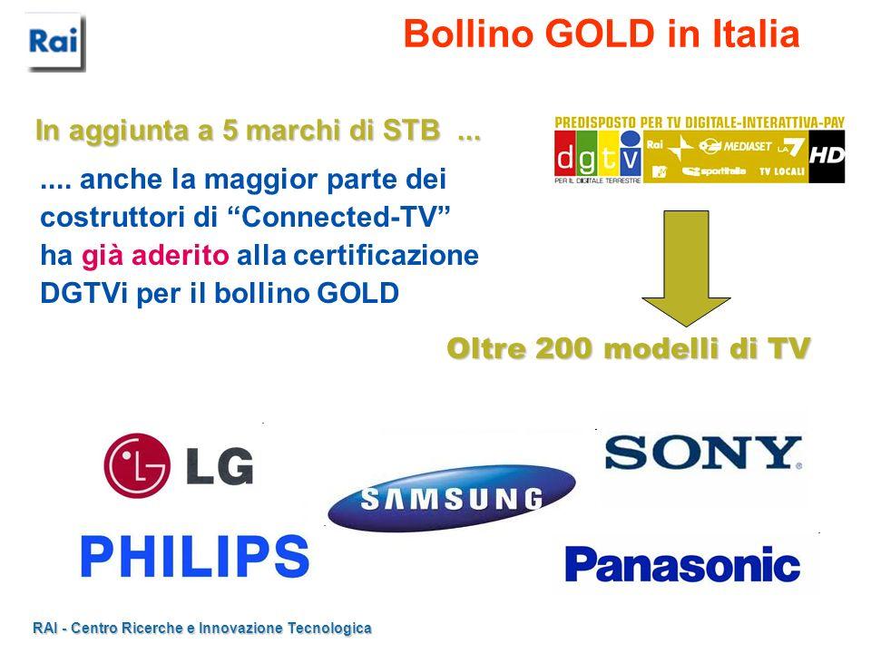 Bollino GOLD in Italia In aggiunta a 5 marchi di STB ...