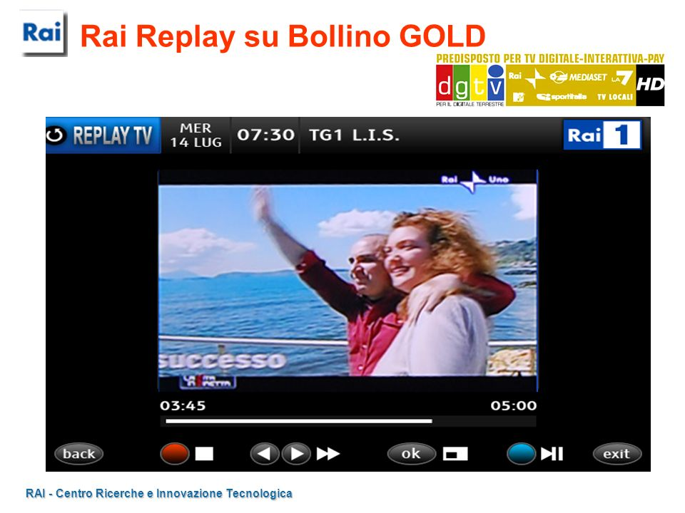 Rai Replay su Bollino GOLD