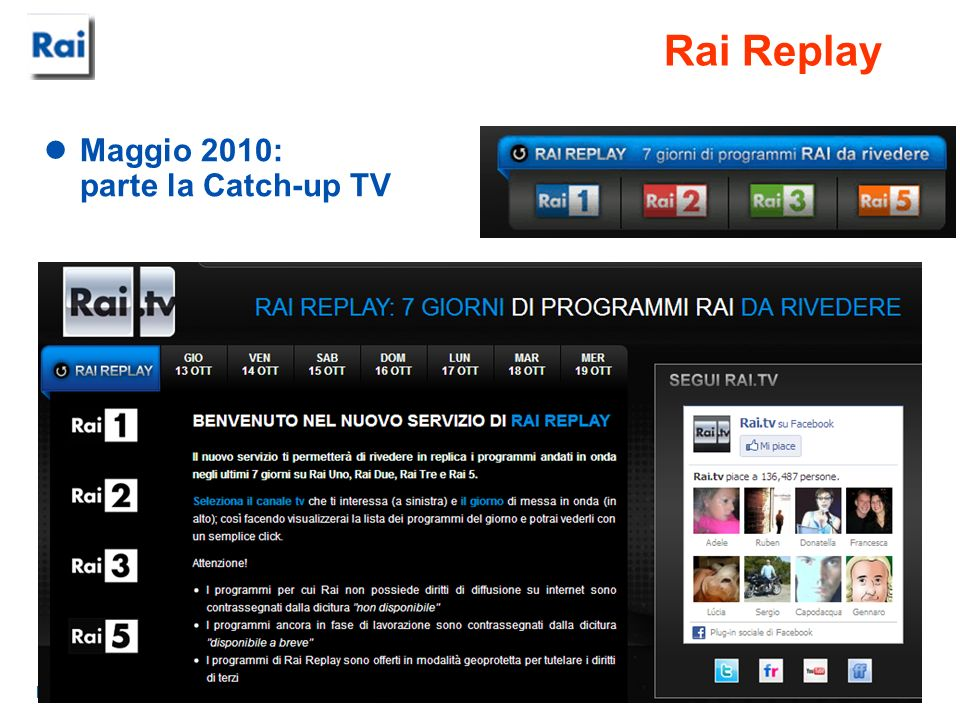 Rai Replay Maggio 2010: parte la Catch-up TV