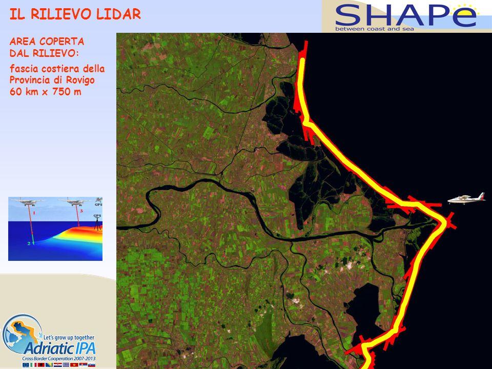 IL RILIEVO LIDAR AREA COPERTA DAL RILIEVO: fascia costiera della