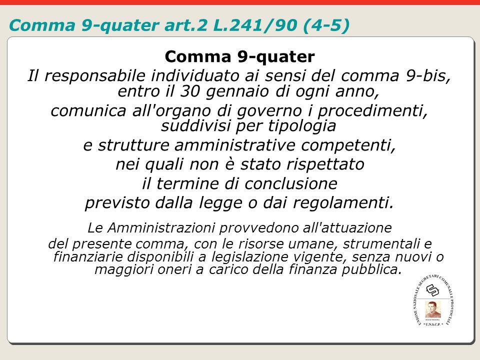 Comma 9-quater art.2 L.241/90 (4-5)