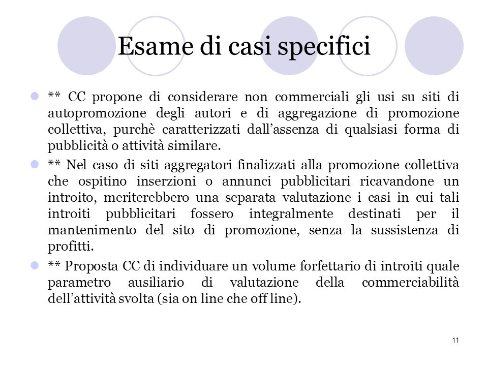 Esame di casi specifici