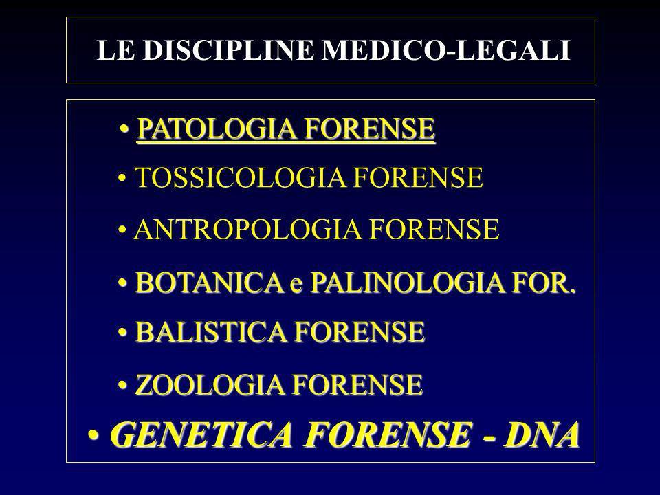 LE DISCIPLINE MEDICO-LEGALI
