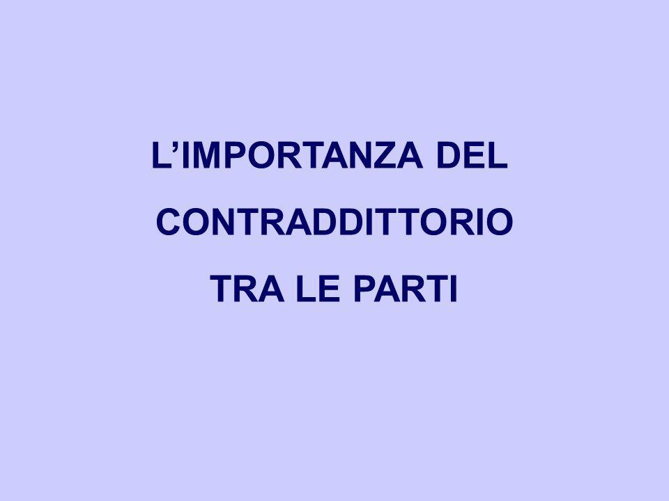 L'IMPORTANZA DEL CONTRADDITTORIO TRA LE PARTI